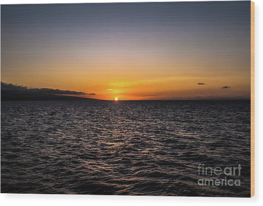 Lahaina Sunset Wood Print