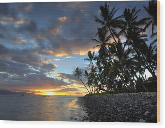 Lahaina Sunset Wood Print by James Roemmling