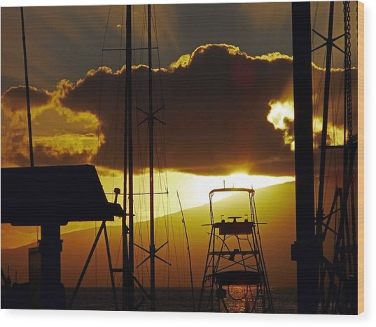 Lahaina Sunsets 5 Wood Print