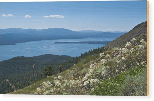 Lake Almanor Wood Print