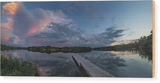 Lake Alvin Supercell Wood Print