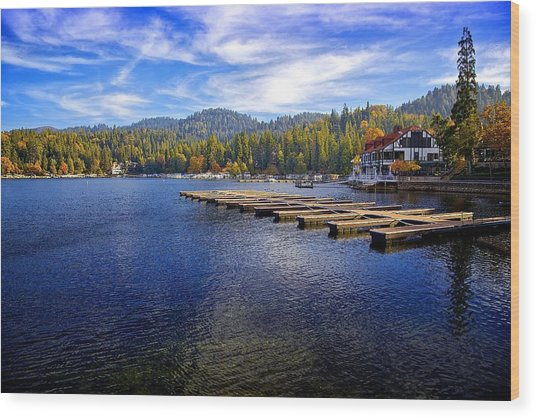 Lake Arrowhead California Wood Print