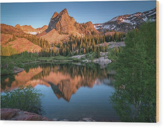 Lake Blanche At Sunset Wood Print