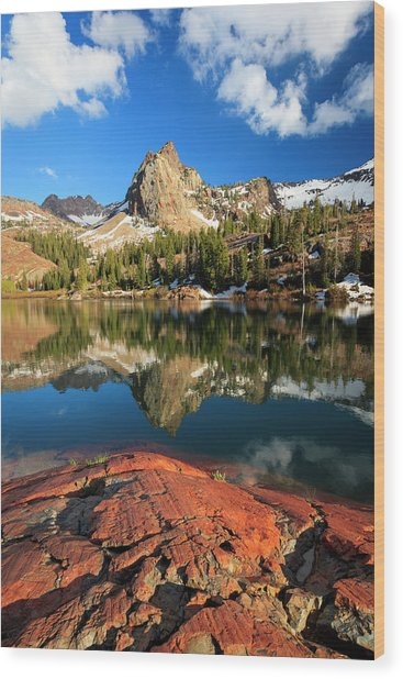 Lake Blanche Spring Vertical Wood Print