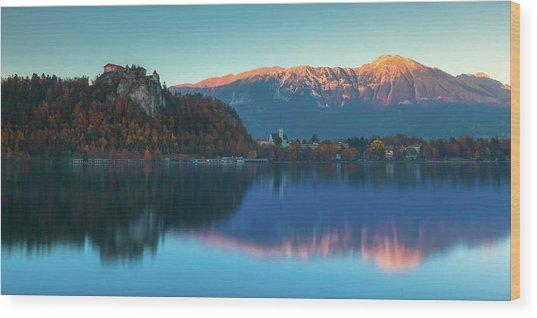 Lake Bled Panorama Wood Print