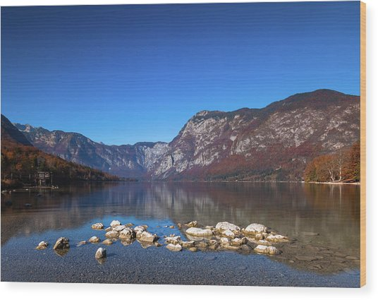 Wood Print featuring the photograph Lake Bohinj by Davor Zerjav
