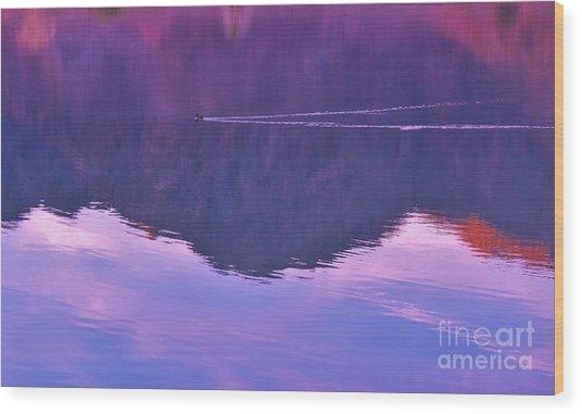 Lake Cahuilla Reflection Wood Print