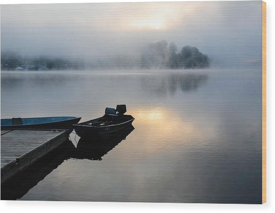 Lake Calm Wood Print