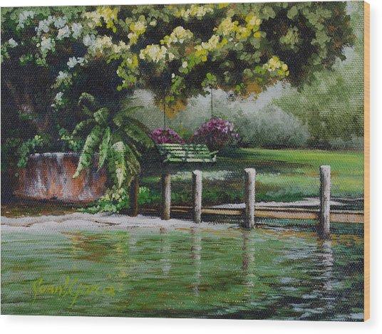 Lake Carroll Morning Wood Print