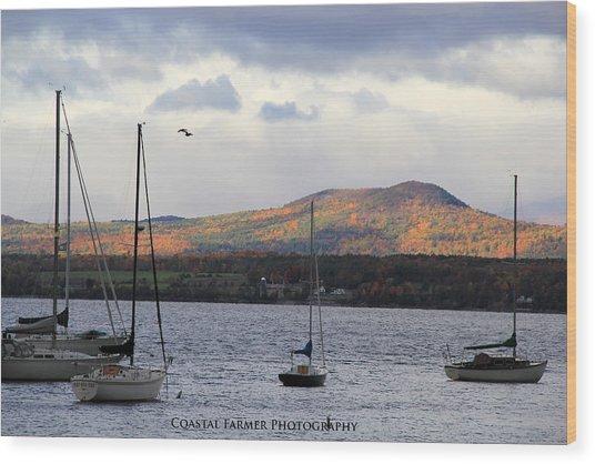 Lake Champlain Wood Print