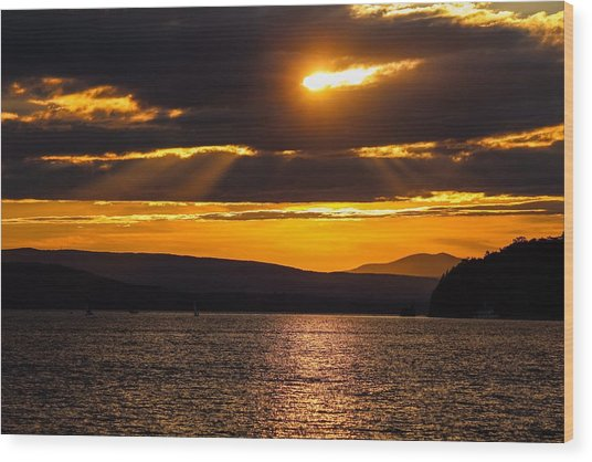 Lake Champlain Sunset Wood Print