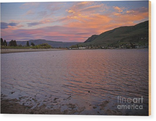 Lake Chelan Sunset Wood Print
