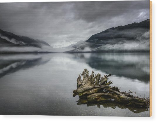 Lake Crescent Relic Wood Print