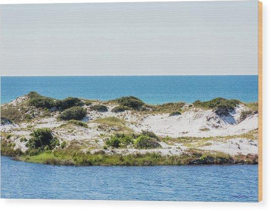 Lake Dunes Gulf Sky Wood Print