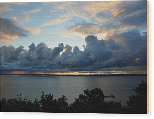 Lake Effect Sky Wood Print