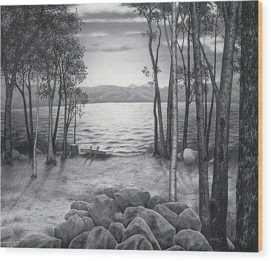 Lake Front Wood Print