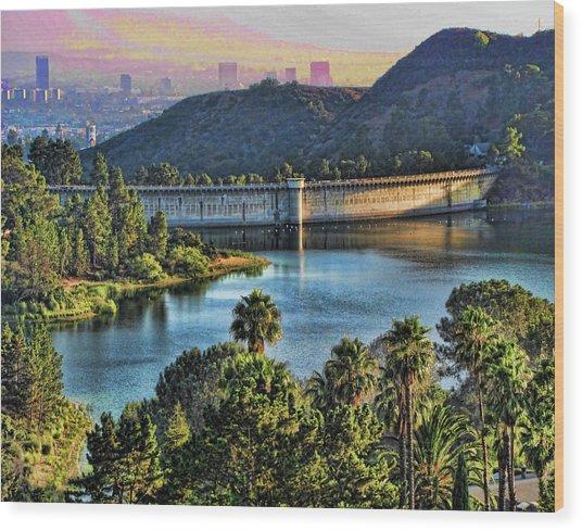 Lake Hollywood Wood Print