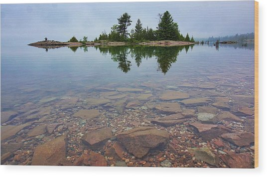 Lake Huron Island Wood Print