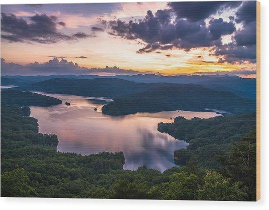 Lake Jocassee Sunset Wood Print