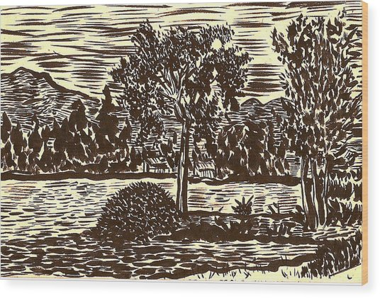 Lake Leek Wood Print