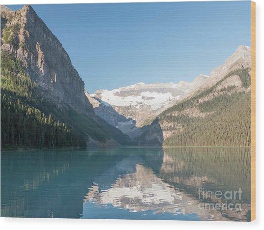 Lake Louise Wood Print by Rod Jones