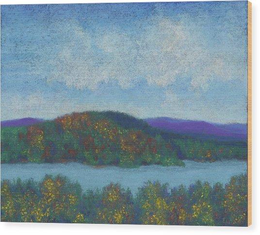 Lake Mahkeenac Wood Print