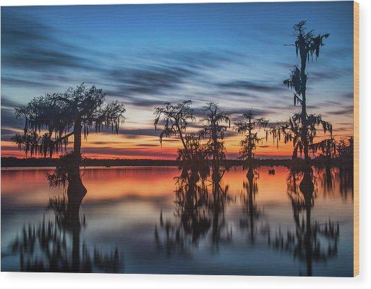 Lake Martin Sunset Wood Print