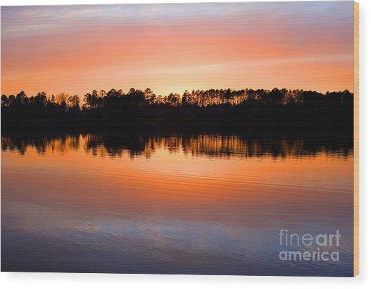 Lake Maumelle Sunset Wood Print