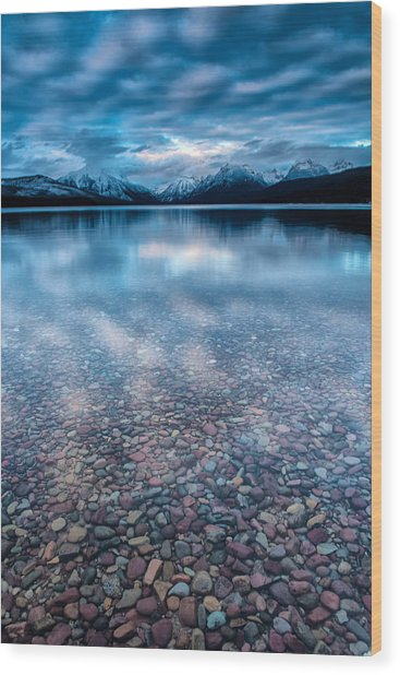 Lake Mcdonald Calm, Glacier National Park Wood Print