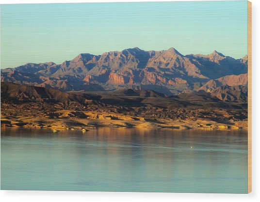 Lake Mead Before Sunset Wood Print