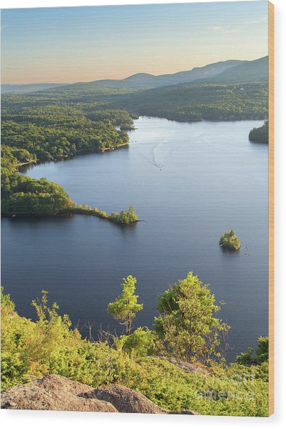 Lake Megunticook, Camden, Maine  -43960-43962 Wood Print
