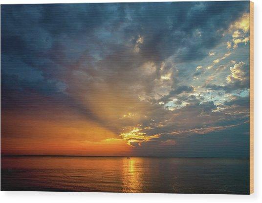 Wood Print featuring the photograph Lake Michigan Sunset by Matthew Chapman