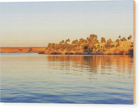 Lake Nasser In Abu Simbel Wood Print