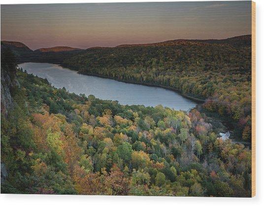 Lake Of The Clouds Wood Print