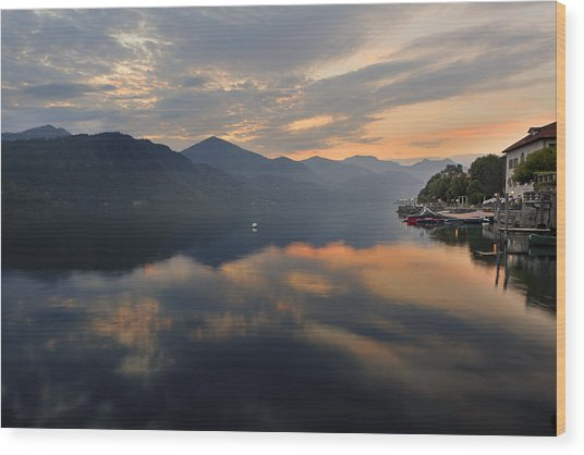 Lake Orta Wood Print