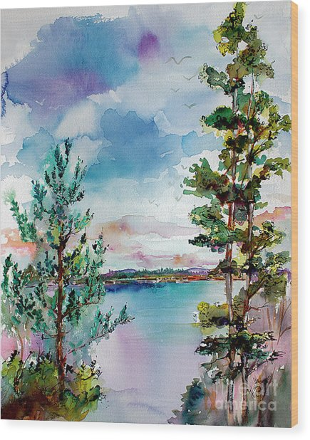 Lake Oswego Oregon Wood Print