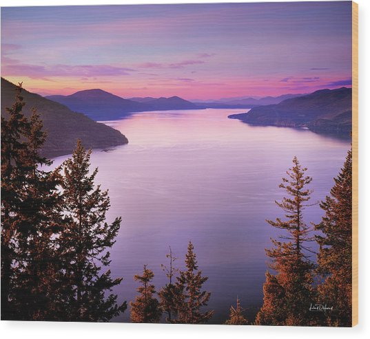 Lake Pend Oreille 2 Wood Print by Leland D Howard