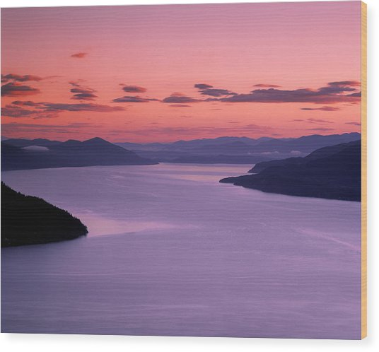 Lake Pend Oreille Sunset Wood Print