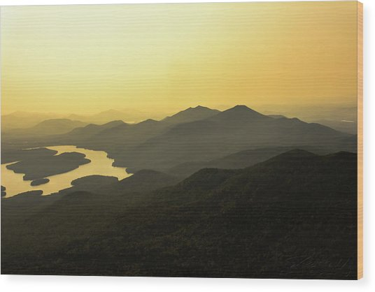 Lake Placid Wood Print