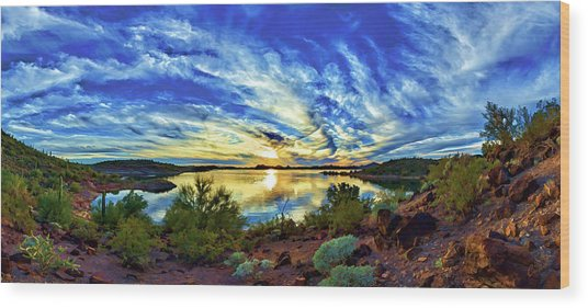 Lake Pleasant Sunset 3 Wood Print