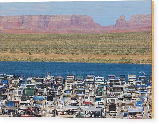 Lake Powell Arizona Wood Print