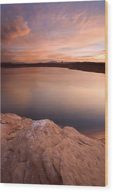 Lake Powell Dawn Wood Print
