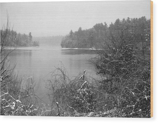 Lake Rico Wood Print by Mark Wiley