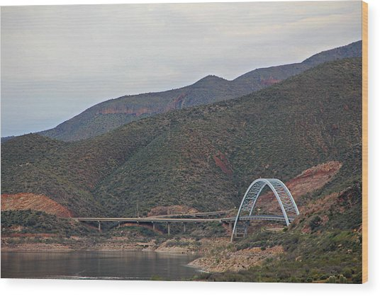 Lake Roosevelt Bridge 2 Wood Print