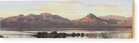 Lake Roosevelt Wood Print by Sharon Broucek