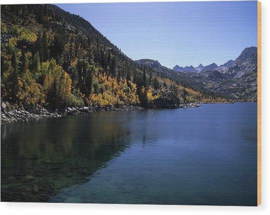 Lake Sabrina Fall Color Wood Print by Don Kreuter