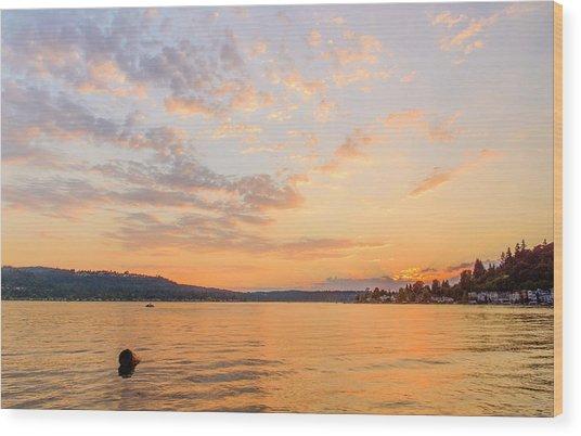 Lake Sammamish Wood Print