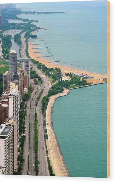 Lake Shore Dr . Chicago Wood Print