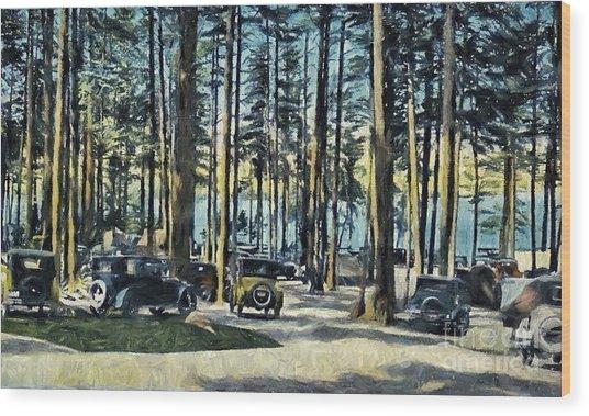 Lake Shore Park - Gilford N H Wood Print