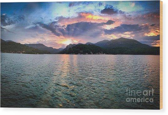 Lake Solstice Wood Print